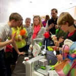 MindTrekkers fest kids with 3D printers