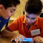 Lebanese kids 3D modeling on iPads