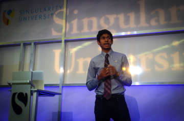 High school student speaking at Singularity University
