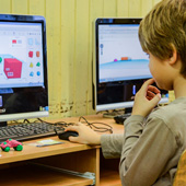boy 3D modeling on a computer