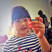girl holding 3D printed model