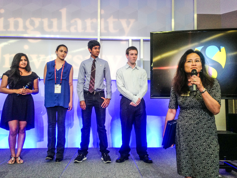 Singularity University Exponential Youth Camp graduation